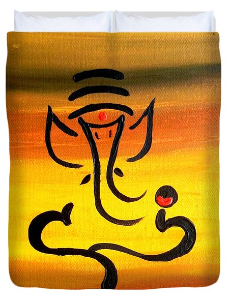 11 Nandana- Son Of Lord Shiva Duvet Cover