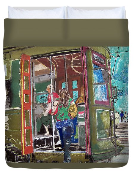 111708 New Orleans Street Car  Duvet Cover