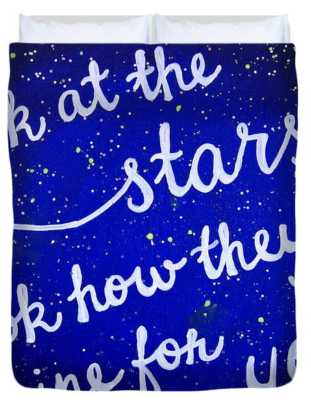 11x14 Look At The Stars Duvet Cover