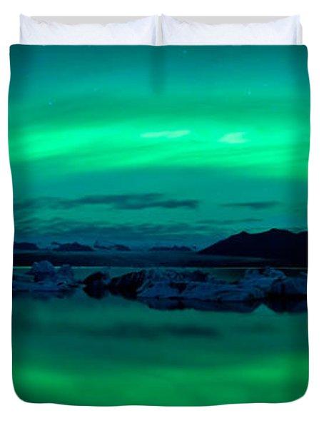Aurora Borealis Or Northern Lights Duvet Cover
