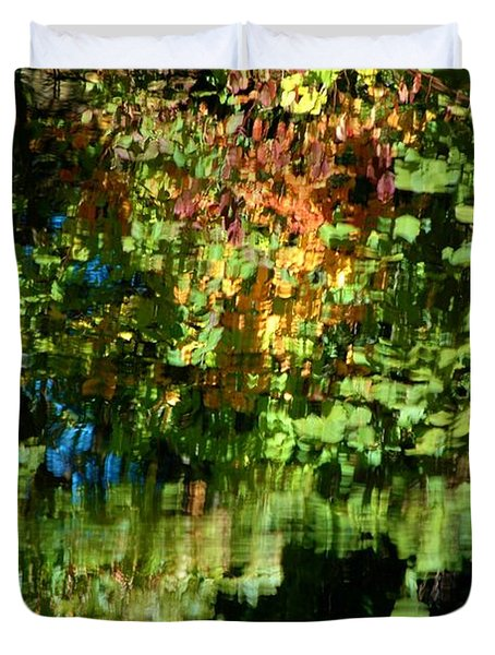 Duvet Cover featuring the photograph Autumn Light by Christiane Hellner-OBrien