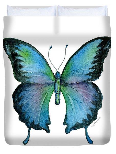 12 Blue Emperor Butterfly Duvet Cover
