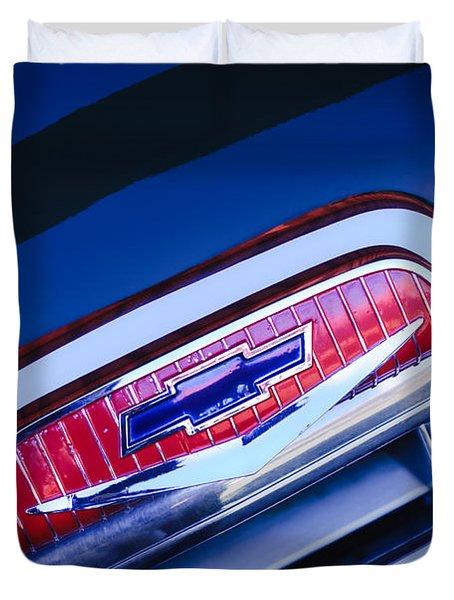 Chevrolet Grille Emblem Duvet Cover by Jill Reger