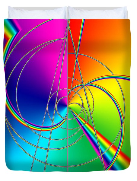 Depression Color Therapy Inside A Rainbow Duvet Cover by Sir Josef - Social Critic - ART