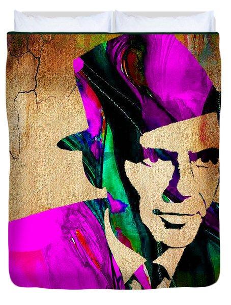 Frank Sinatra Art Duvet Cover by Marvin Blaine