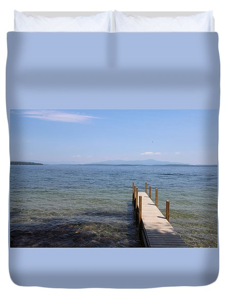 Lake Winnipesaukee Duvet Cover