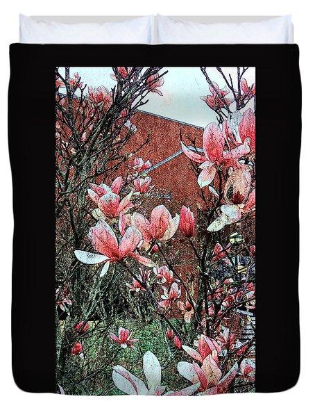 Pink Magnolias  Duvet Cover