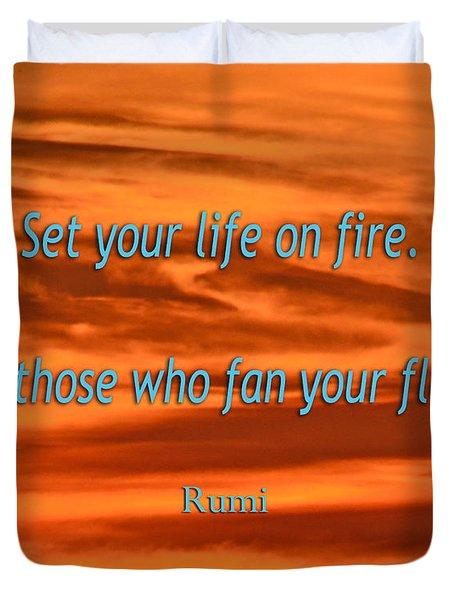 120- Rumi Duvet Cover