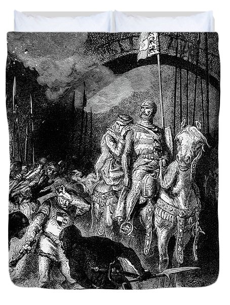 1200s Spanish Hero El Cid Rodrigo Diaz Duvet Cover