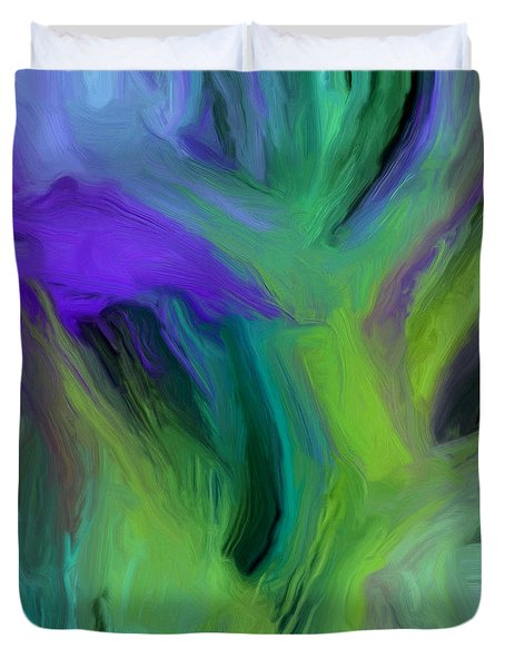 Duvet Cover featuring the painting 126a by Ely Arsha