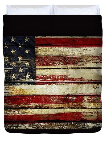 American Flag 54 Duvet Cover