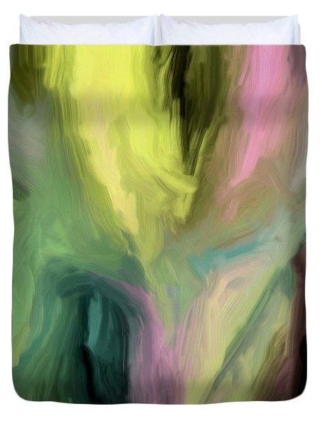Duvet Cover featuring the painting 127a by Ely Arsha