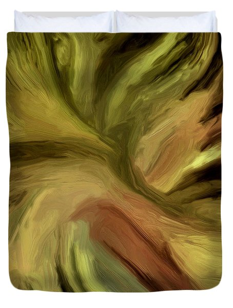 Duvet Cover featuring the painting 128a by Ely Arsha
