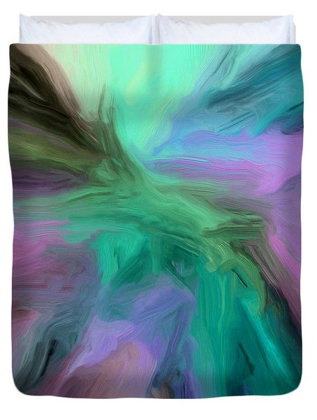 Duvet Cover featuring the painting 129a by Ely Arsha