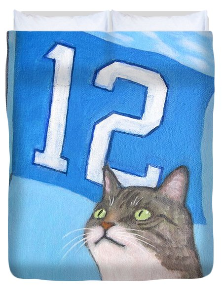 12th Cat #1 Duvet Cover