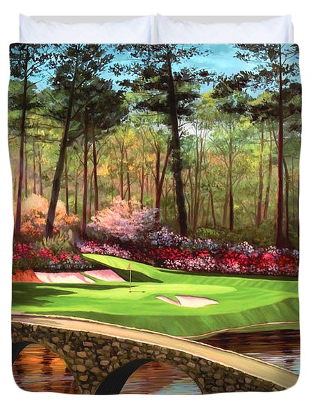 12th Hole At Augusta  Duvet Cover