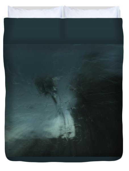Duvet Cover featuring the digital art Even Kids Did Not Go Out To Play by Danica Radman