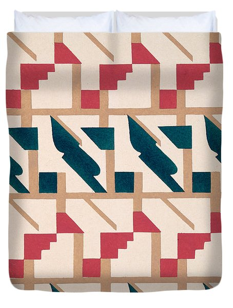 Design From Nouvelles Compositions Decoratives Duvet Cover by Serge Gladky