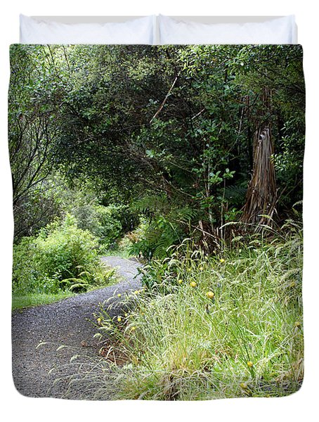 Forest Trail Duvet Cover by Les Cunliffe
