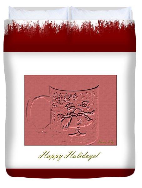 Happy Holidays Duvet Cover by Oksana Semenchenko