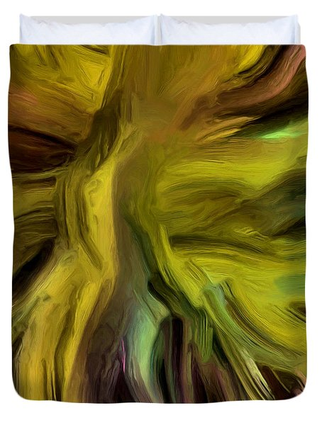 Duvet Cover featuring the painting 133a by Ely Arsha