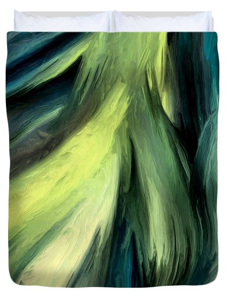Duvet Cover featuring the painting 134a by Ely Arsha