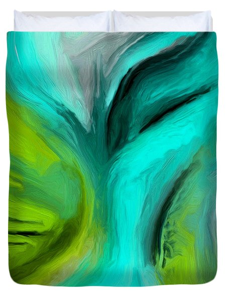 Duvet Cover featuring the painting 135a by Ely Arsha