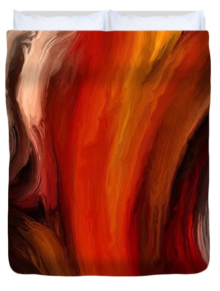 Duvet Cover featuring the painting 136a by Ely Arsha