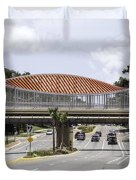 13th Street Rails To Trails Trestle Duvet Cover