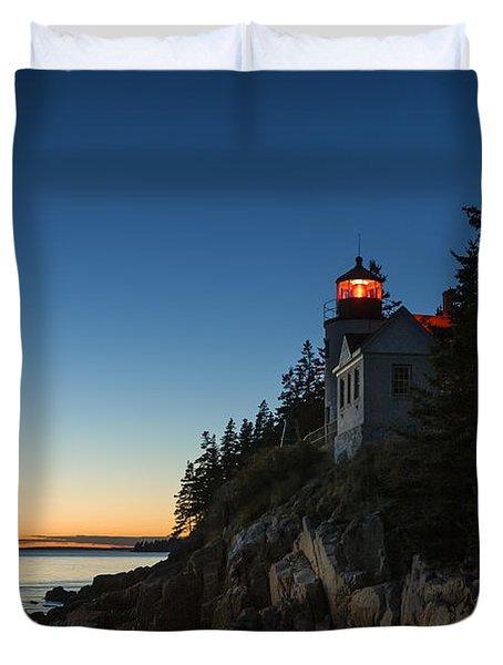 Bass Harbor Lighthouse Duvet Cover by John Greim
