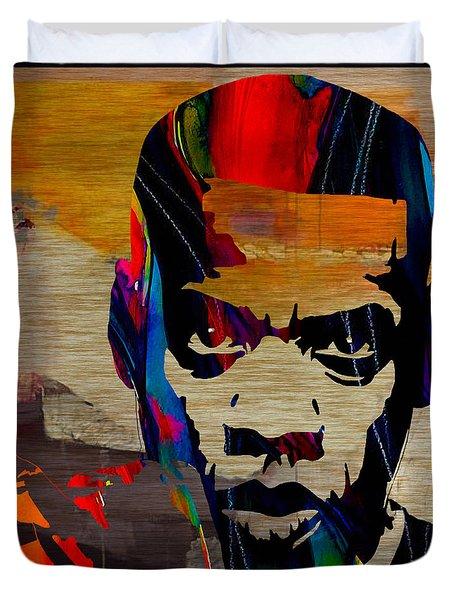 Jay Z Duvet Cover by Marvin Blaine