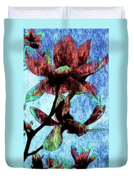 Magnolia Flowers  Duvet Cover