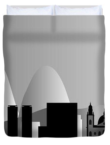 Rio De Janeiro Skyline Duvet Cover by Michal Boubin