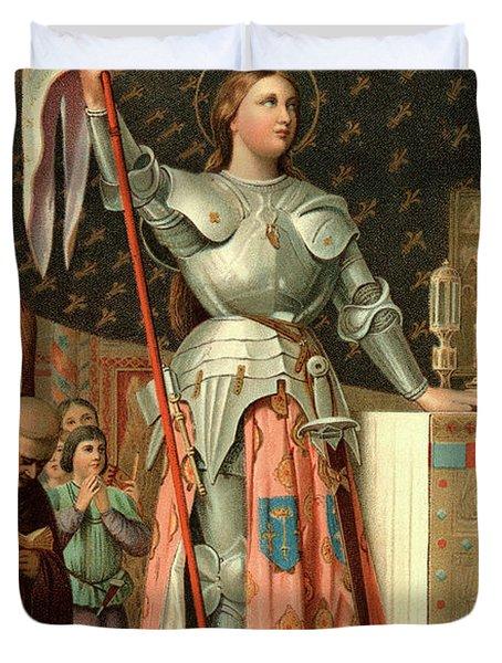 1400s July 17 1430 Joan Of Arc Duvet Cover