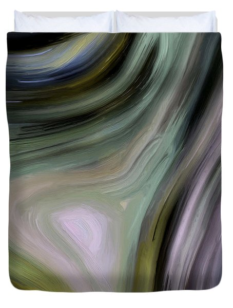 Duvet Cover featuring the painting 140a by Ely Arsha
