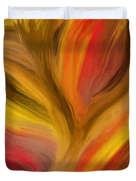Duvet Cover featuring the painting 142a by Ely Arsha