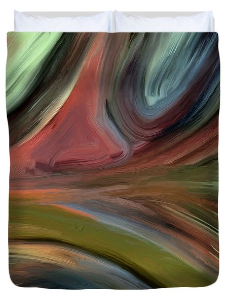 Duvet Cover featuring the painting 145a by Ely Arsha