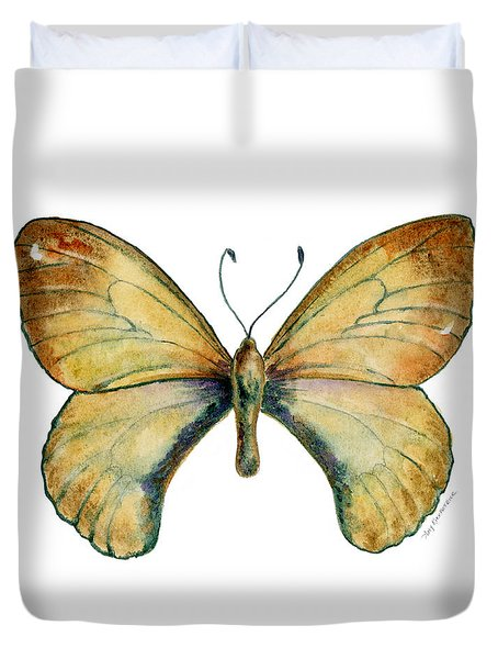 15 Clouded Apollo Butterfly Duvet Cover