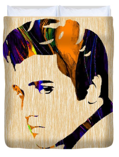 Elvis Duvet Cover by Marvin Blaine