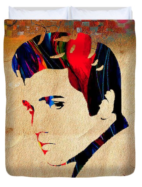 Elvis Presley Duvet Cover by Marvin Blaine