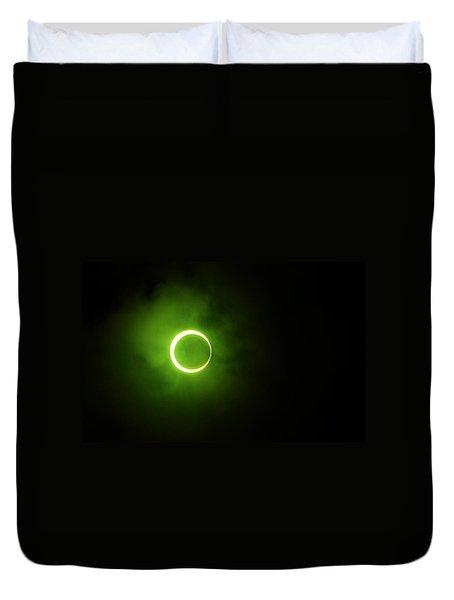 15 January 2010 Solar Eclipse Maldives Duvet Cover