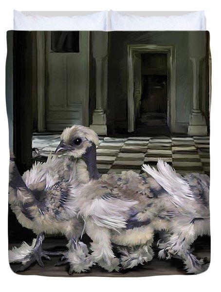 15. Lizard Chicks Duvet Cover
