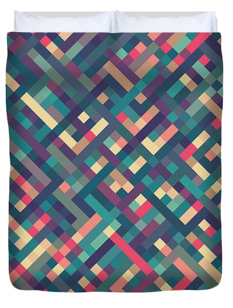Pixel Art Duvet Cover by Mike Taylor