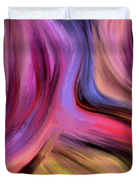Duvet Cover featuring the painting 150a by Ely Arsha