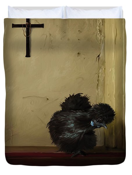 16. Black Silkie Duvet Cover