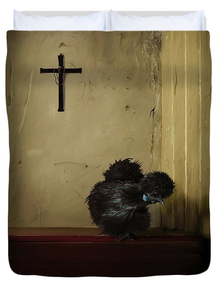 16. Black Silkie Duvet Cover