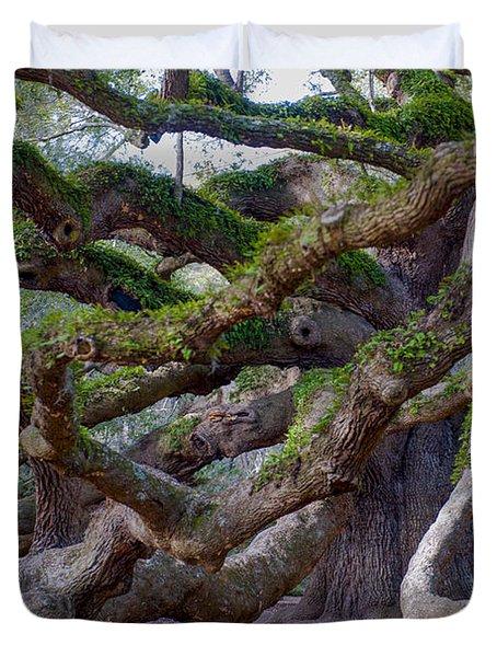 Angel Oak Tree Unique View Duvet Cover