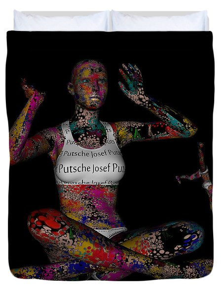 The Future Of Psychedelic Society Duvet Cover by Sir Josef - Social Critic -  Maha Art