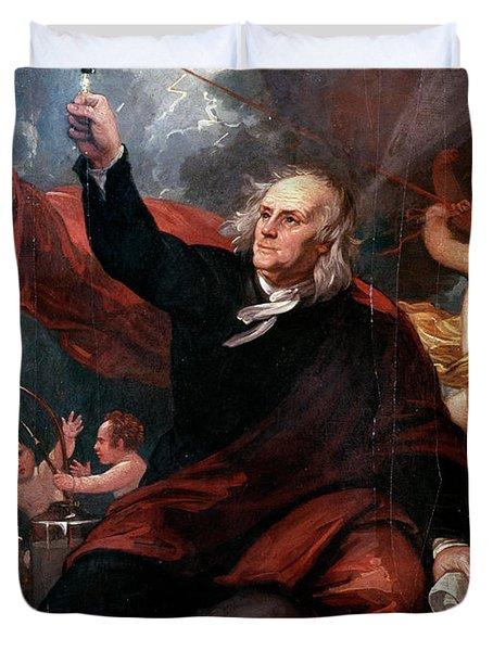 1750s Benjamin Franklin Touching Key Duvet Cover