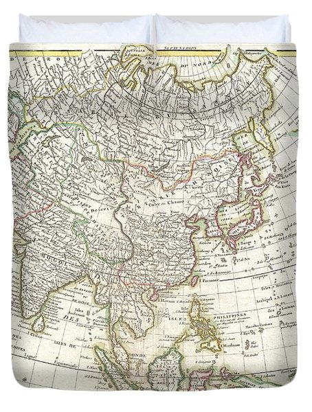 1770 Janvier Map Of Asia Duvet Cover by Paul Fearn